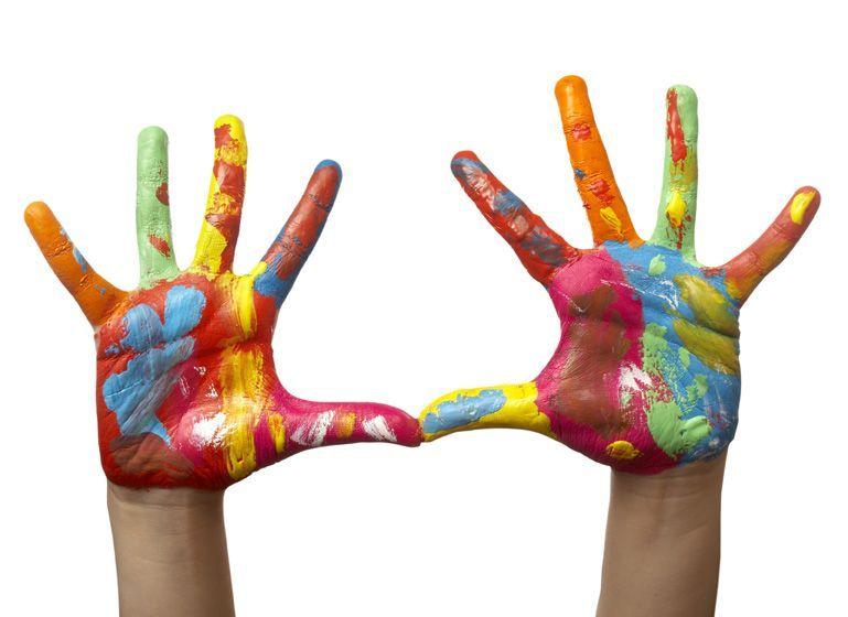 Les activit s centerblog - Peinture main enfant ...